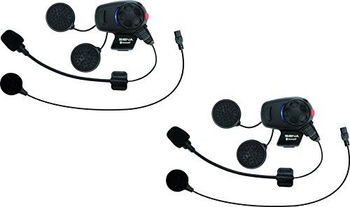 Sena SMH5D-UNIV Bluetooth Headset- und Gegensprechanlage für Motorroller und Motorräder mit Universal-Mikrofonsatz, Doppelpack