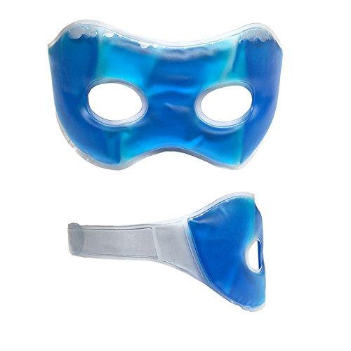 Gel-Augenmaske Schlafmaske wirkt belebend auf Ihre Augen - Augengelmaske Entspannungs-Maske kühlend wärmend bei Augenringe im Gesicht wiederverwendbar für Männer Frauen Kinder (Auge Männer)