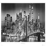 Empire 170187 - Póster del Puente de Brooklyn de Nueva York (tamaño XXL, 158 x 53 cm), Color Blanco y Negro