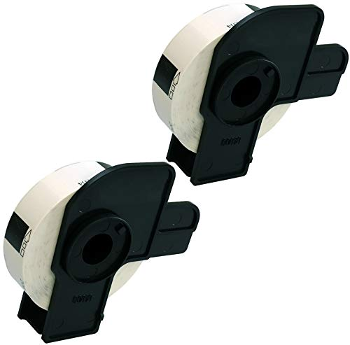 Prestige Cartridge 2x DK11204 17mm x 54mm Mehrzweck-Etiketten für Brother P-Touch QL-500 QL-550 QL-570 QL-700 QL-720 QL-800 QL-810 QL-820 QL-1100 QL-1110 Etikettendrucker (400 Etiketten pro Rolle)