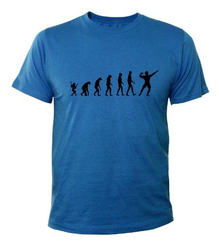Mister Merchandise Cooles Fun T-Shirt Bodybuliding Evolution Muscle Fitness Royalblau