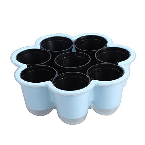 TOPBATHY 10pcs Pépinière en Plastique Pots Graine Sprouter Plateau Semis Démarreur Pots pour Plateau Planteur (Bleu Ciel)
