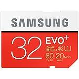Samsung Speicherkarte SDHC 32GB EVO Plus UHS-I Grade 1 Class 10 für Foto und Video Kameras