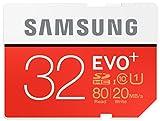 Samsung Memory Carte Mémoire SD 32GB Evo Plus SDHC UHS-I Grade 1 Classe 10 (Emballage Standard)