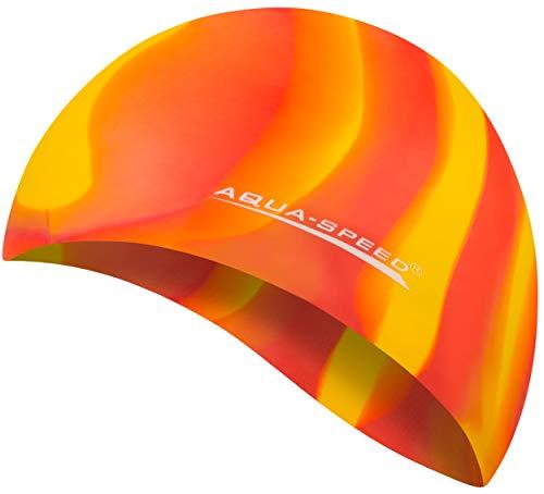7aed4bfbd5 AQUA-SPEED® BUNT Cuffia di bagno + Piccolo Asciugamano in microfibra    Colorato   Silicone   Cappellino di nuoto   Balneazione cappello   Cuffia  da ...