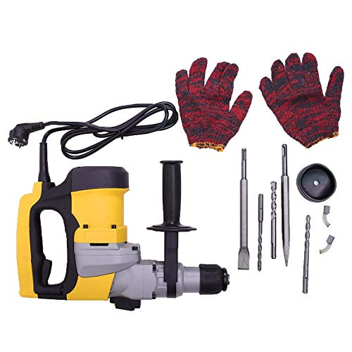 Eduton Elektro-Dreifach-Purpose Powerful Hammer Kit Beton Break 2 Meissel 3 Bohrer -