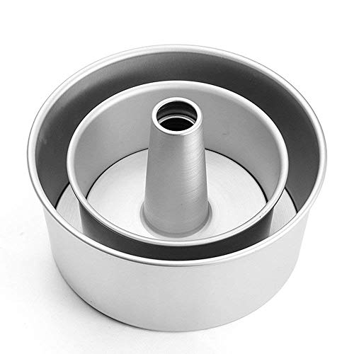GDGY Aluminiumlegierung Runde Hohl-Chiffon-Kuchenform Engel Lebensmittel Kuchenform Backform mit abnehmbarem Boden 6inch