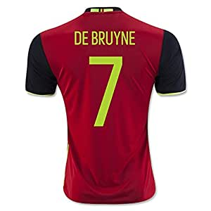 2016 2017 UEFA Euro Cup Belgien 7 Kevin De Bruyne Home National Football Soccer Jersey in Rot