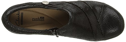 Clarks Channing Ann Slip-on Loafer Black Lizard