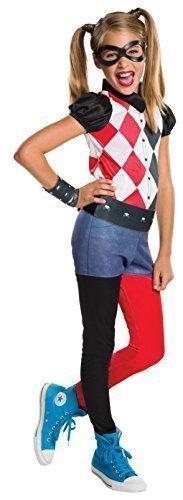 Mädchen Harley Quinn Batman Superheld Villain Comicbuch Tag Woche Halloween Kostüm Kleid Outfit 3 - 10 jahre - 3-4 (Outfits Harley Quinn)