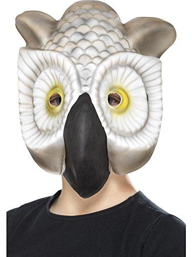 x Eulen Maske, One Size, Grau und Weiß, 46973 (Eule Masken)
