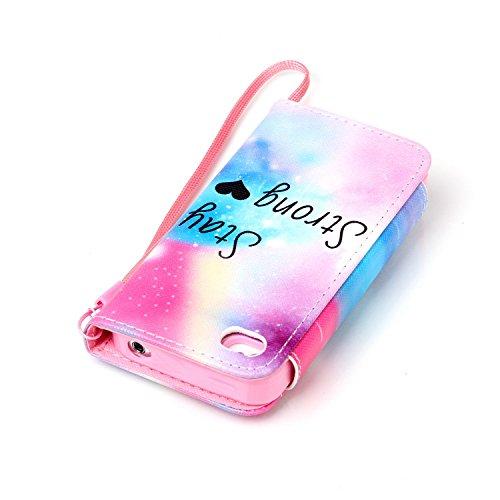 MOONCASE iPhone 4 Case 2 in 1 avec détachable Coque en Cuir Portefeuille Housse de Protection Étui à rabat Case pour iPhone 4 4S -FT12 FT03