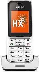 Gigaset SL450HX Universal-Mobilteil - Schnurloses IP-/ Design Telefon (zum Anschluss an Basisstation oder Router, mit exzellenter Sprachqualität und großem Farbdisplay) platin schwarz