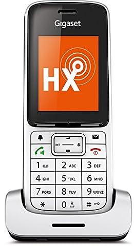 Gigaset SL450HX Schnurlostelefon (6,32 cm (2,4 Zoll) TFT-Farbdisplay, Freisprechen, Einfaches Telefon für Router, IP-Telefon) platin/schwarz