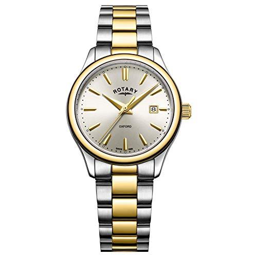 Rotary Montre à Bracelet en Or Bicolore en Argent Femme LB05093/03
