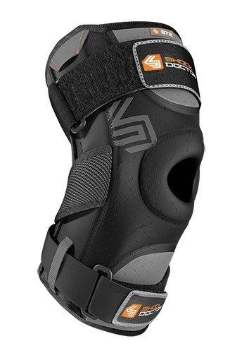 Shock Doctor PST, Tutore per ginocchio Dual Hinges, Nero (black), L