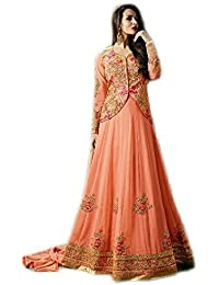 Anasha Fashions Bollywood Designer Latest Fashion Georgette Embroidered Party Wear Gown Style Salwar Suit - B077MD2BJK