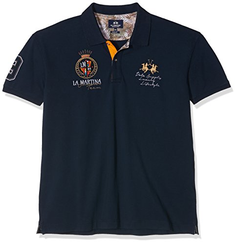 la-martina-mens-man-s-piquet-stretch-polo-shirt-blau-navy-7017-xl-manufacturer-size-xl