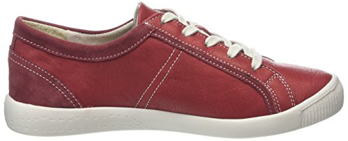 Softinos - Irina, Sneaker basse Donna Red (Red/Tan)