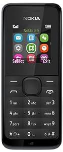 Nokia 105 Smartphone débloqué GSM (Ecran: 1,4 pouces - Double SIM - Windows )Noir