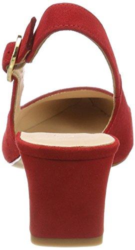 Unisa Jaima_ks, Sandales Bride Arrière Femme Rouge (Red)