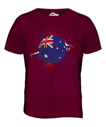 CandyMix Australien Fußball Herren T Shirt Burgunderrot