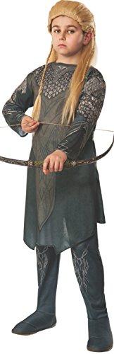 Legolas Kostüm für Kinder aus Der Hobbit Tunika und Hose oliv - S (Hobbit Legolas Kostüm)