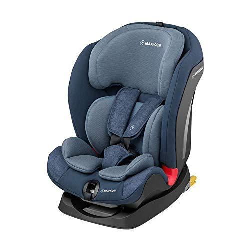 Maxi-Cosi Titan mitwachsender Kindersitz mit ISOFIX und Schlafposition, Gruppe 1/2/3 Autositz (9-36 kg), nutzbar ab 9 Monate bis 12 Jahre, Nomad Blue