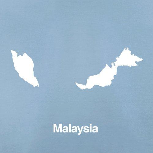 Malaysia Silhouette - Herren T-Shirt - 13 Farben Himmelblau