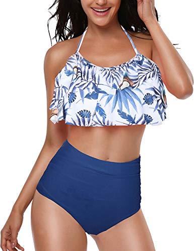 UMIPUBO Bikini Conjuntos Mujer Push up Impresión Familia Madre e Hija Traje de Baño Flounce...