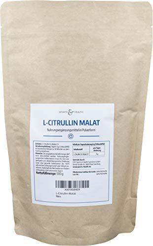 L-Citrullin-Malat Pulver als 500g Citrulin Pulver in einem Perfekten 2:1 Verhältnis mit extra Dosierlöffel durch Made In Germany Für Sport und Ausdauer Und Fitness