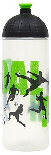 ISYbe Original Marken-Trink-Flasche für Kinder und Erwachsene, 700 ml, BPA-frei, Fußball-Motiv geeignet für Schule-Reisen-Sport & Outdoor, Auslaufsicher auch mit Kohlensäure, Spülmaschine-fest