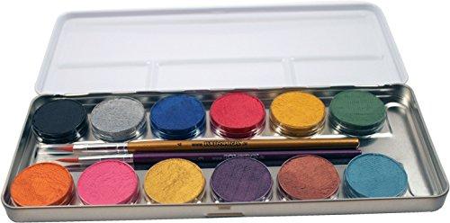 eulenspiegel-212028-schminkpalette-aus-metall-2-pinsel-und-12-perlglanz-farben