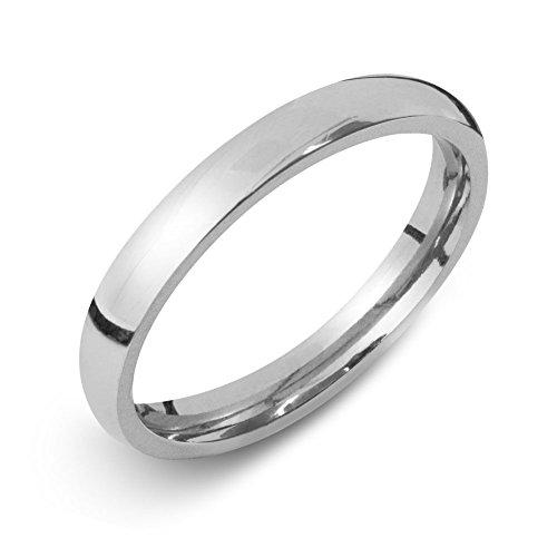Soul-Cats® Damen Herren Ring aus Edelstahl Partnerringe Edelstahlring Damenring Herrenring, Farbe:Silber, Größe:22 mm, Breite:3 mm
