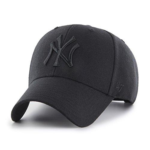 47Brand MVP Snapback NY Yankees MVPSP17WBP-BKB Schwarz Schwarz, Size:ONE Size (47brand Snapback)