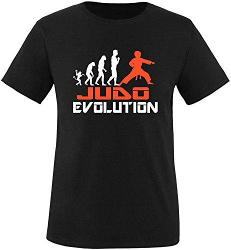 EZYshirt® Judo Evolution Herren Rundhals T-Shirt Schwarz/Weiss/Orange