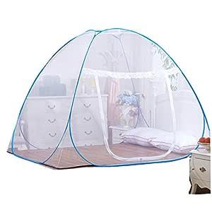 Brauner Rand 120 * 200 cm Digead Moskitonetz Bett Einzelt/ür-Moskito-Campingvorhang Tragbares Reise-moskitonetz Faltbares Bett-Moskitonetz