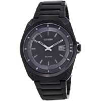 Citizen Eco-Drive Analog Black Dial Men's Watch - AW1015-53E
