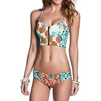 Luckycat Traje de Baño Bikini Mujer 2018 Cremallera Push-Up Acolchado Bañador Traje de Baño de Dos Piezas Mujeres Ropa de Playa