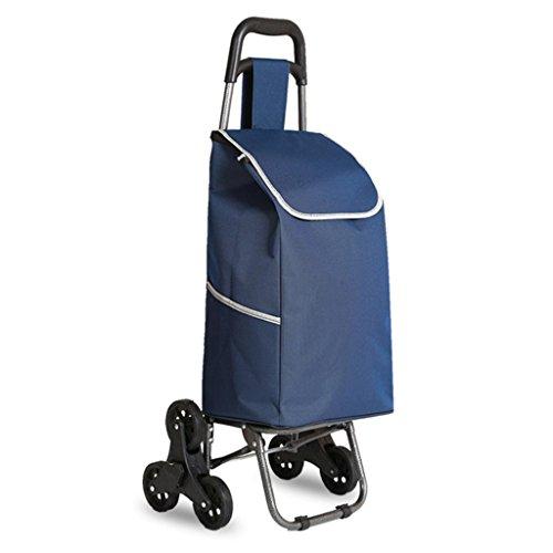 LXF Treppenhaus-Einkaufstasche-Faltbare Tragbare aufgefüllte Wasserdichte Taschen-Aluminiumlegierung-Stille Rad-Karren können 50kg Gewicht tolerieren (Farbe : B)
