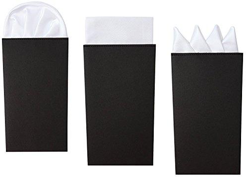 Anzügen Mens Weißen (3 Pack Set Männer Weißes Einstecktuch Set, Vorgefaltet Präsidial-, Kronen- und)