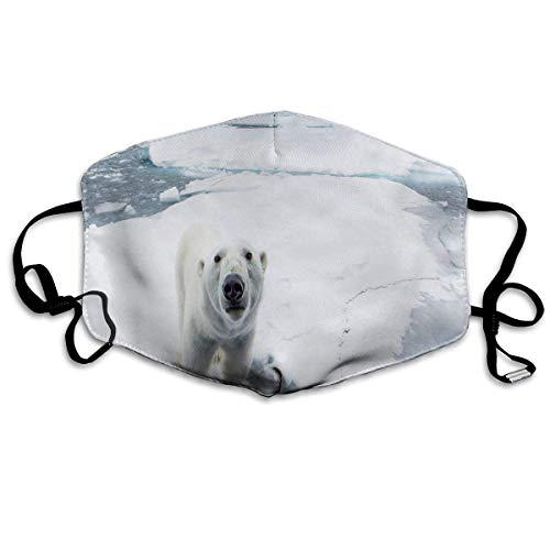 Reusable Mund Maske, Face Mask, Custom Mund Maske Anti-Dust Polar Bear Love Face Mask Breathable Mask With Adjustable Ear-loop Windproof And Warm Polar-fleece Ear Warmer