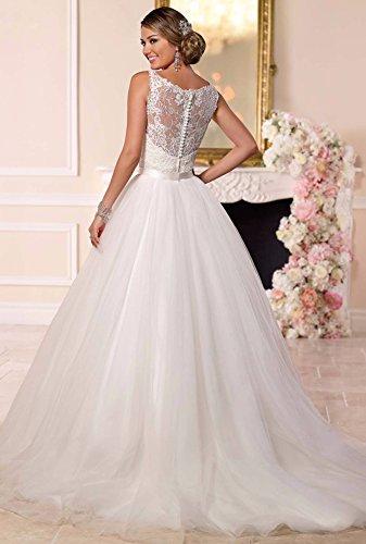 Tianshikeer Hochzeitskleid 2 Teilig Spitze Tüll Lang Sexy Brautkleid Zweiteilig - 4