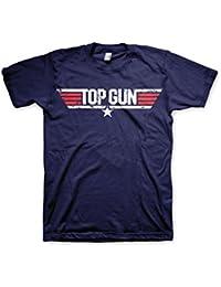 Offizielles Lizenzprodukt Top Gun Distressed Logo T-Shirt (Marineblau)