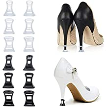 Comius Protectores Tacones, 6 Pares Protectores Zapatos de Mujer para Razas, Bodas, Ocasiones