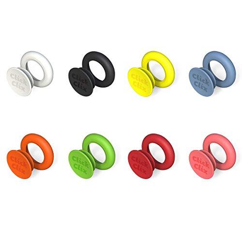 Patentiertes System zum Verbinden und Identifizieren Kleidungsstücke–clickclix® mehrfarbig 64 unidades bunt - Kleidungsstück System