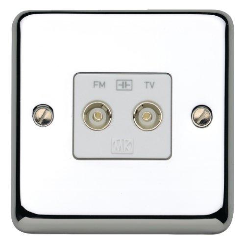 MK Chroma Plus K3582PCR TV/ FM Diplexer Twin Outlet by MK -