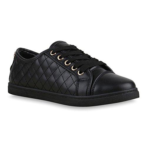 Sneakers Baixas Senhoras Paint & Brilho Sapatilhas Lazer Totais Preto