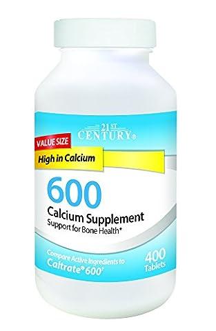 Calcium Supplement 600, 400 Tablets - 21st Century Health Care