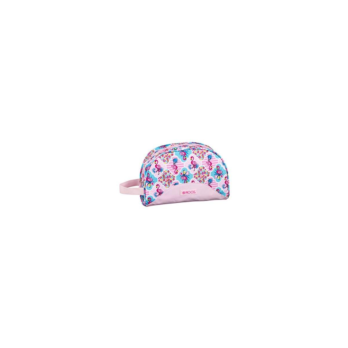 41eqjIEd8CL. SS1200  - Moos  Flamingo Pink Oficial Mochila Escolar Infantil Pequeño Con Asa 280x100x180mm